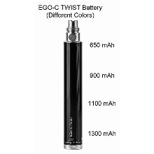 Ego c Twist Battery 650mah 900mah 1100mah 1300mah
