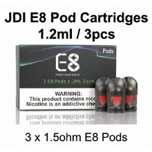 Jdi E8 Pod Cartridges 1.2ml & 3pcs