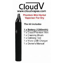 Cloudv Phantom Mini Herbal Vaporizer For Dry Herbs 1200mah