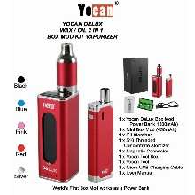 Yocan Delux Wax &  Oil 2 In 1 Box Mod Kit Vaporizer