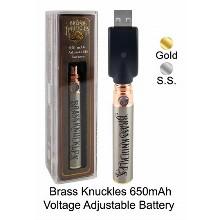 Brass Knuckless 650mah Voltage Adjustable Battery