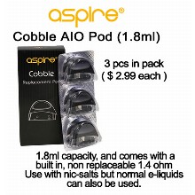 Aspire Cobble Aio Pod 1.8ml &  1.4ohm