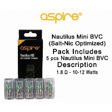 Nautilus Mini Bvc salt nic Optimized 1.8ohm & 10 12w