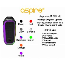 Aspire Avp Aio Kit Rainbow Color