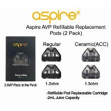 Aspire Avp Refillable Replacement Pods 2pcs 1.2ohm