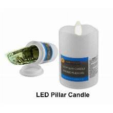 Led Pillar Candle Hidden Safe