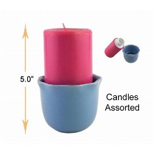 5 Inch Candles Assorted Hidden Safe