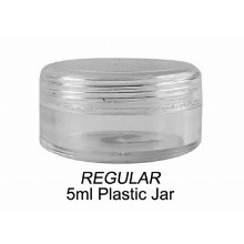 5ml Regular Clear Plastic Jar