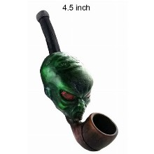 4.5 Inch Aliens Wooden Pipe