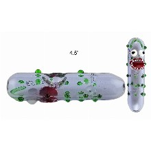 4.5 Inch Monster Face Glass Hand Pipe 4825