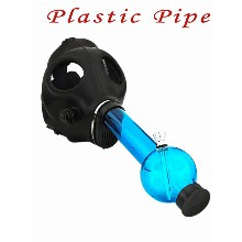 Gas Mask Blue Water Pipe Bong