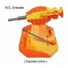 Orange yellow Silicone Nectar Collector Grenade Included Jar And Dabbing Tool