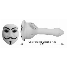 4.5 Inch Guy Fawkes Silicone Hand Pipe
