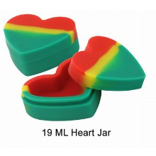 19 Ml Silicone Heart Jar