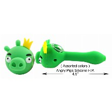4.5 Inch Angry Pigs Silicone Hand Pipe