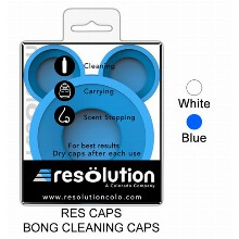White Blue Bong Cleaning Caps