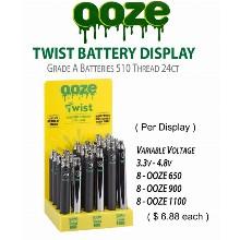 OOZE Twist Battery Display 3.3 4.8v & 650 1100mah