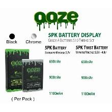 OOZE 5pk Twist Battery 3.3v 4.8v & 650mah 1100mah