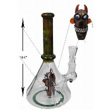 10 Inch Percolator Water Pipe With Monster Head