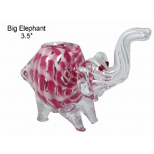 3.5 Inch Big Elephant Glass Hand Pipe
