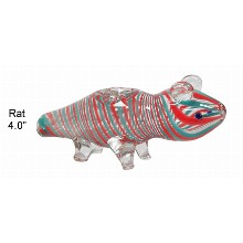 4.0 Inch Rat Glass Hand Pipe