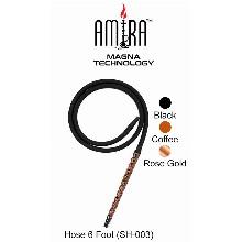 6 Feet Black Amira Magna Technology Hookah Hose