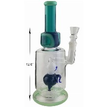 12 Inch Blue And Green Octopus Percolator Water Pipe
