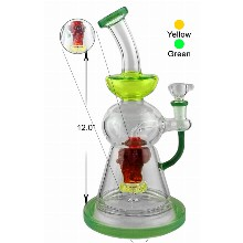 12 Inch Beaker Percolator Water Pipe With Monster Head