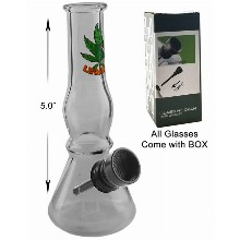 5 Inch Clear Water Pipe With Black Downstem