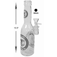 10 Inch Black Bottle With Percolator Water Pipe