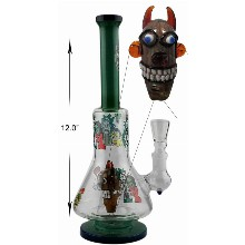 12 Inch Monster Head With Rick And Morty Percolator Water Pipe