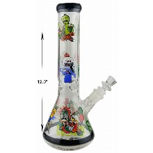 12 Inch Rick And Morty Beaker Water Pipe