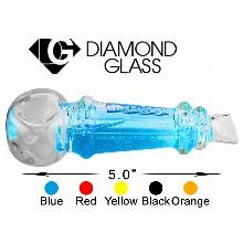 5 Inch Blue Diamond Glass Pipe