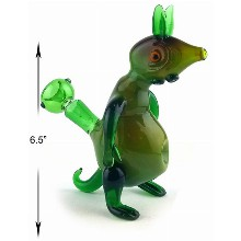 6.5 Green Squirrel Water Pipe