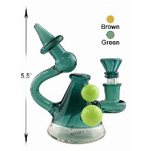 5.5 Inch Green Brown Water Pipe Unique Desgin