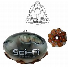 2.5 Inch Brown And Dark Green Sci fi Water Pipe