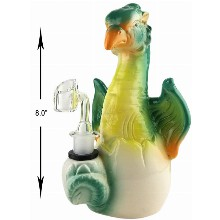 8 Inch Green Bird Dab Rig
