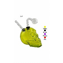 5 Inch Yellow Skull Oil Burner