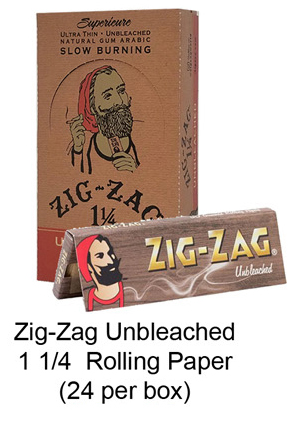 Zig Zag Unbleached 1 1 & 4 Rolling Paper