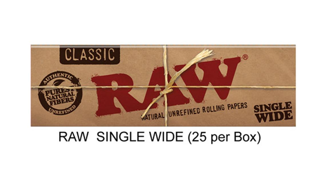 Raw Single Wide Paper