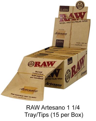 Raw Artesano 1 1 & 4 Tray & tips