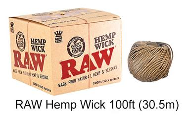Raw Hemp Wick 100ft 30.5m