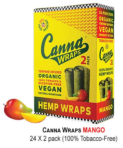 Canna Hemp Wraps mango