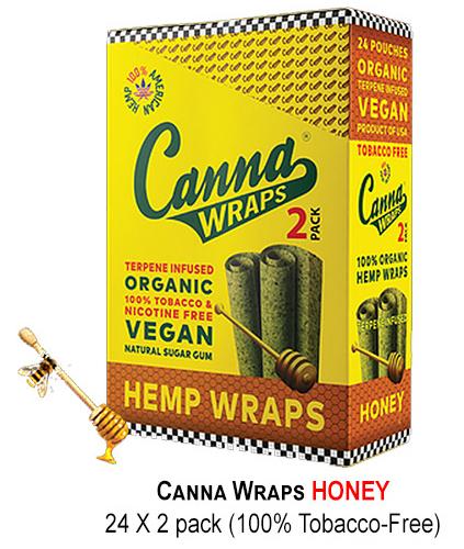 Canna Hemp Wraps honey