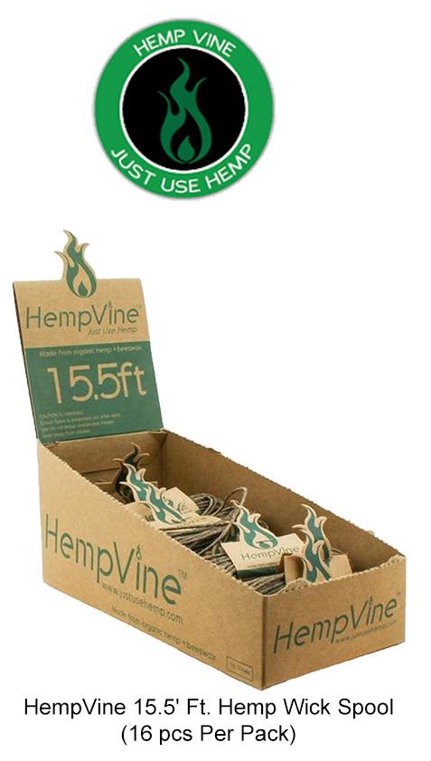 HempVine 15.5 Inch Hemp Wick Spool