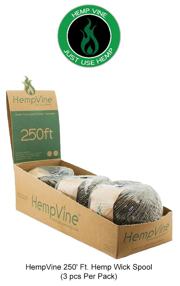 HempVine 250 Inch Hemp Wick Spool
