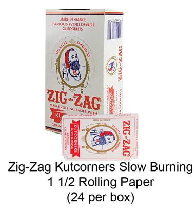 Zig Zag Kutcorners Slow Burning 1 1 & 4 Rolling Paper