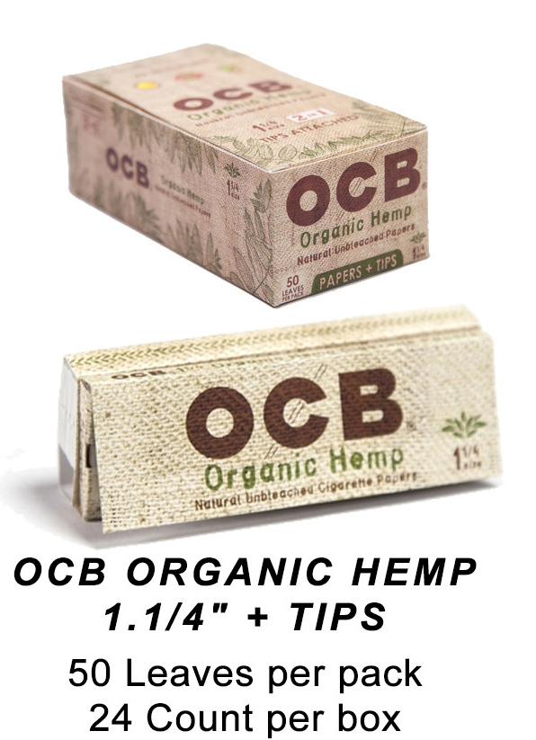 OCB Organic Hemp 1 1 & 4 Tips