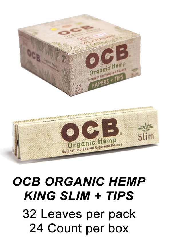 OCB Organic Hemp King Slim Tips