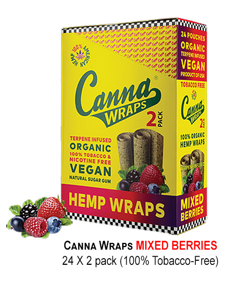 Canna Hemp Wraps Mixed Berries